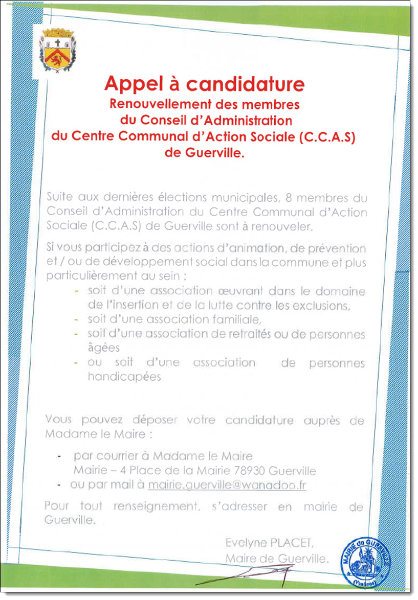 Candidature CCAS 2020